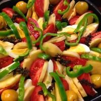 ほおずきと野菜のチーズオーブン焼き